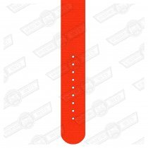 REC WATCH STRAP-22mm, ORANGE- BLACK BUCKLE