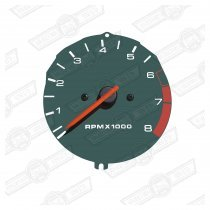 REV COUNTER-GREEN FACE-COOPER & RSP '90-'96 & ITAL.JOB