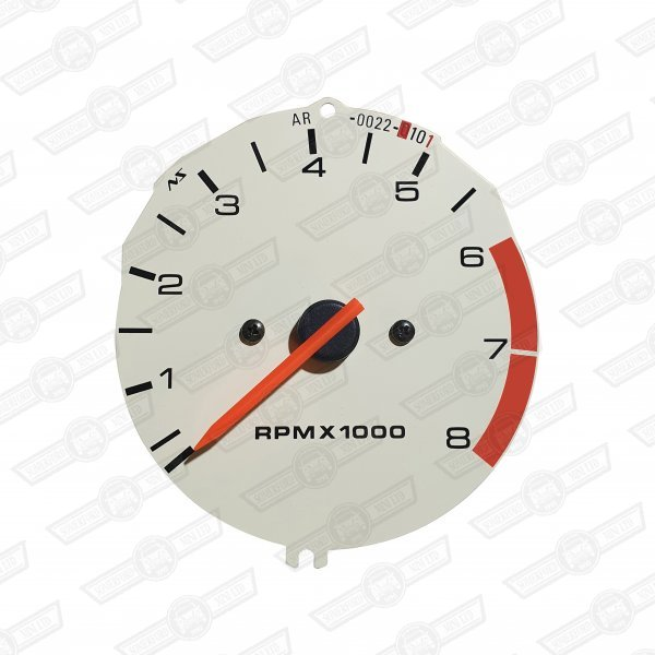 REV COUNTER-IVORY FACE-8000 RPM STD. AND COOPER-'97 ON