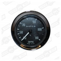 SMITHS CAPILLARY WATER TEMPERATURE GAUGE, FULL SCALE BLACK
