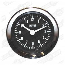 SMITHS CLOCK-BLACK FACE,VEE BEZEL