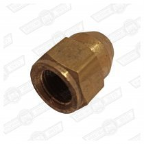 TUBE NUT-BRASS, BRAKE PIPE UNION-3/8'' UNF FEMALE