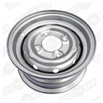 WHEEL-STEEL VENTILATED, 3.5''x10'' COOPER 'S' STD. SILVER