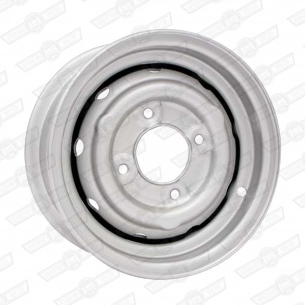 WHEEL-STEEL VENTILATED 4.5''x10'' COOPER 'S' OPTIONAL SILVER